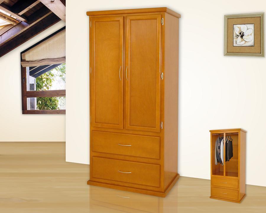 Roperos muebles gm muebles de madera for Roperos de madera para dormitorios