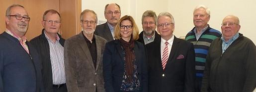 Vorstand 2016: v.l.: Winfried Aubreville, Ludwig Kronabel, Hans-Georg Diekmann, Georg Severin, Maria Feith-Pletz, Hermann Meyer, Wolfgang von Es, Geerd Johannink, Hermann Aehlen