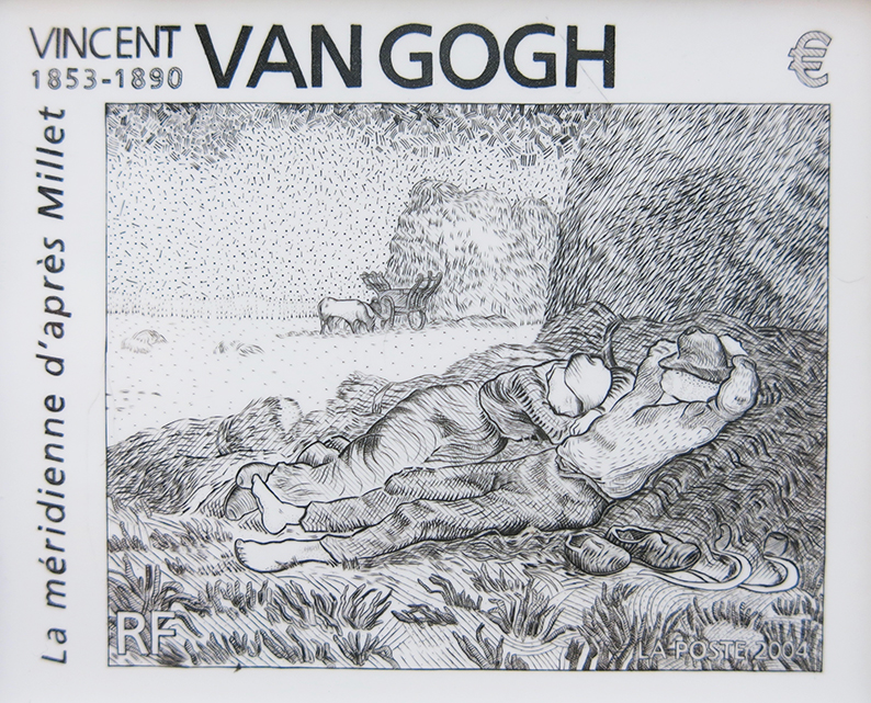 "Interprétation au trait du tableau de Van Gogh ""La Méridienne""."