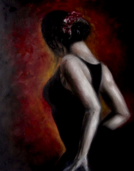 Flamenco 100 x 80    Öl auf Leinwand