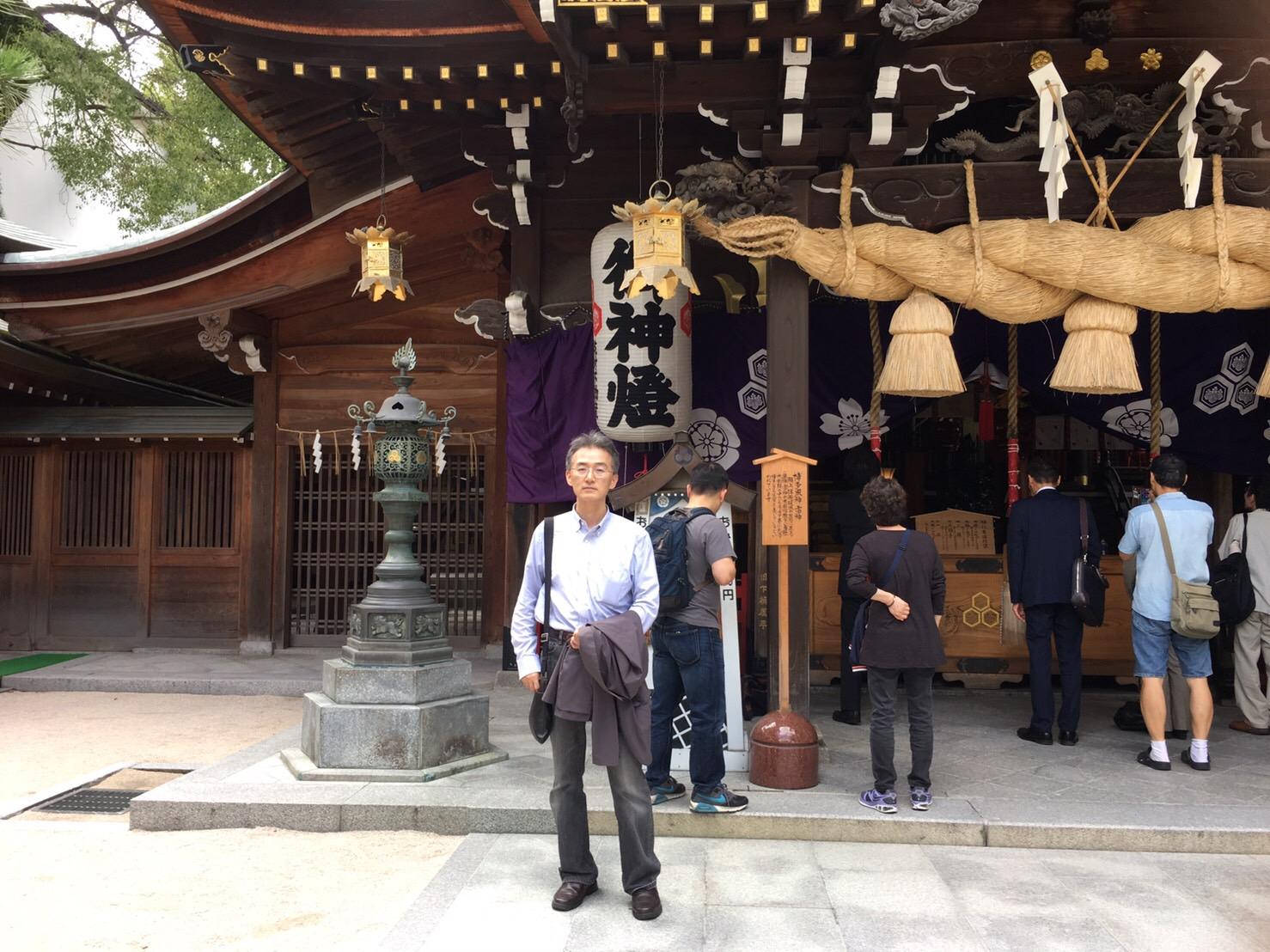 2016年10月18日 福岡県福岡市博多区上川端町の櫛田神社にて