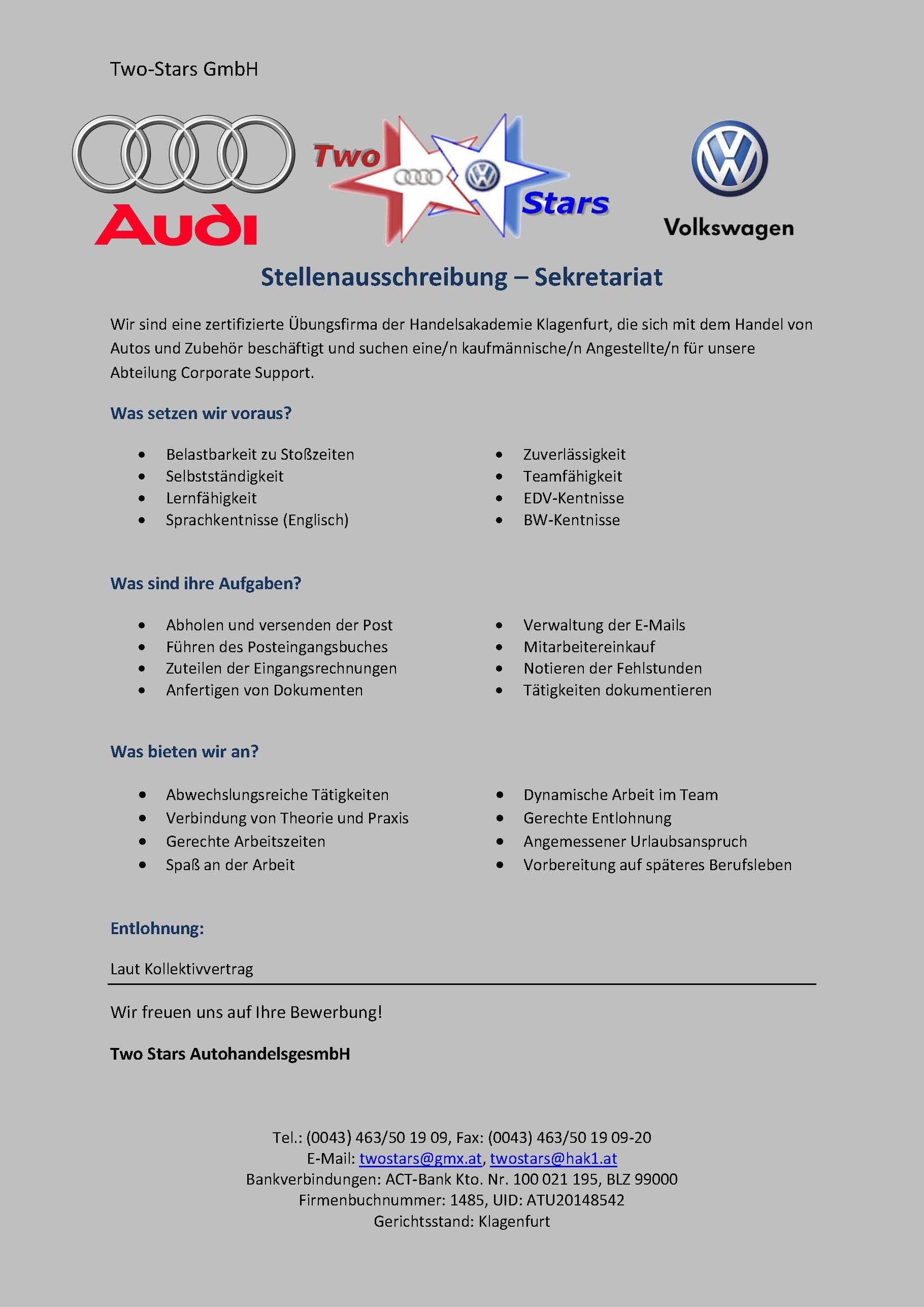 Corporate Support Two Stars Gesmbh