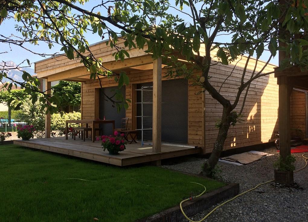 Maison bois Grésivaudan (entr. Sibille Charpente)