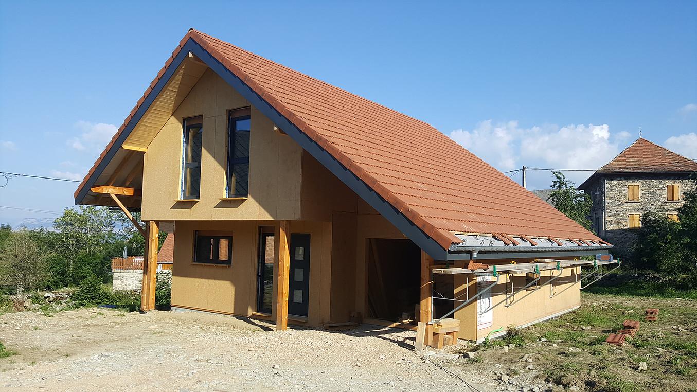 Maison bois Balcons de Belledonne (entr. Sibille Charpente)