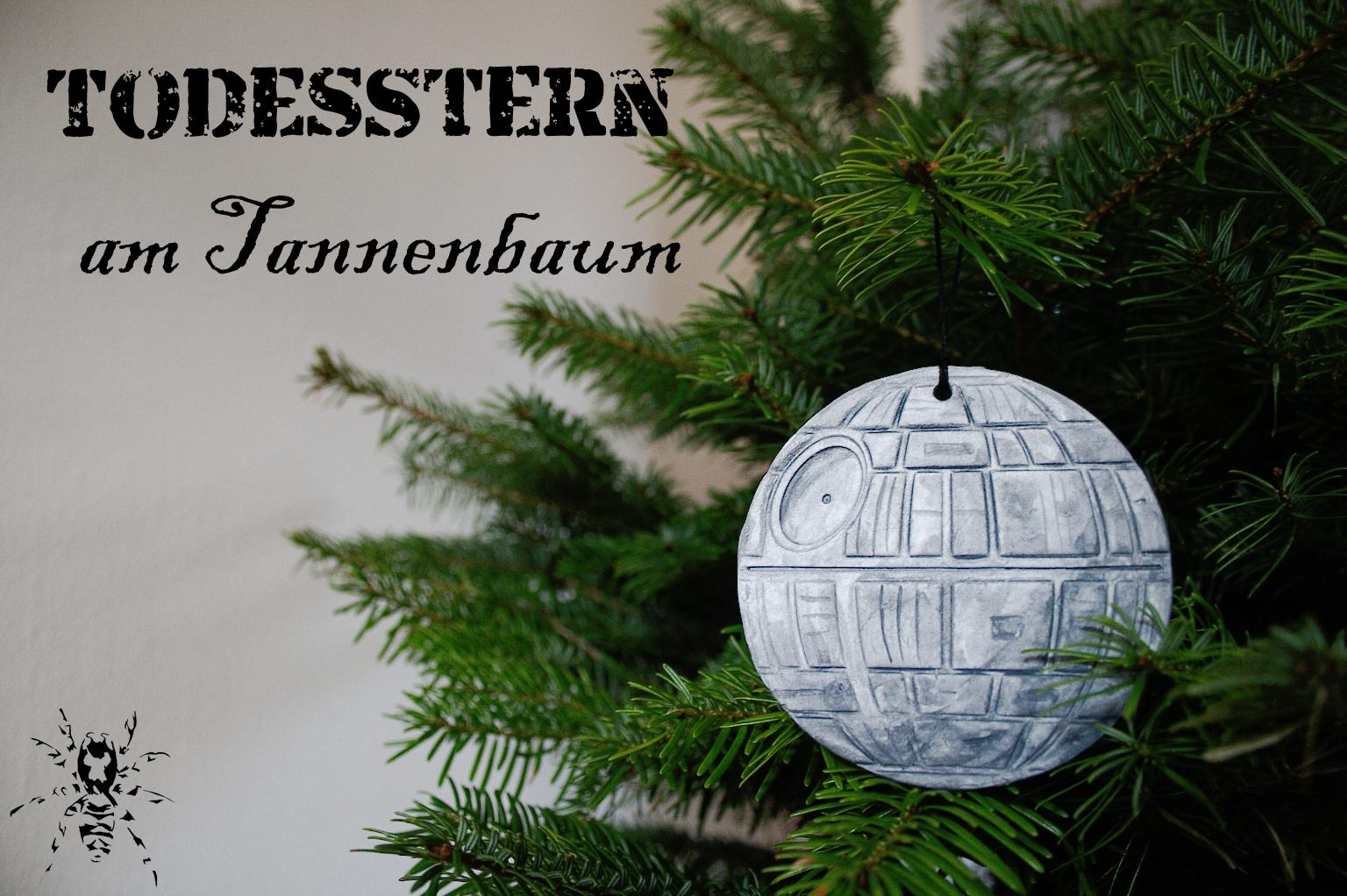 Todesstern am tannenbaum zebraspider diy anti fashion punk n hen siebdruck blog - Star wars weihnachtsbaum ...