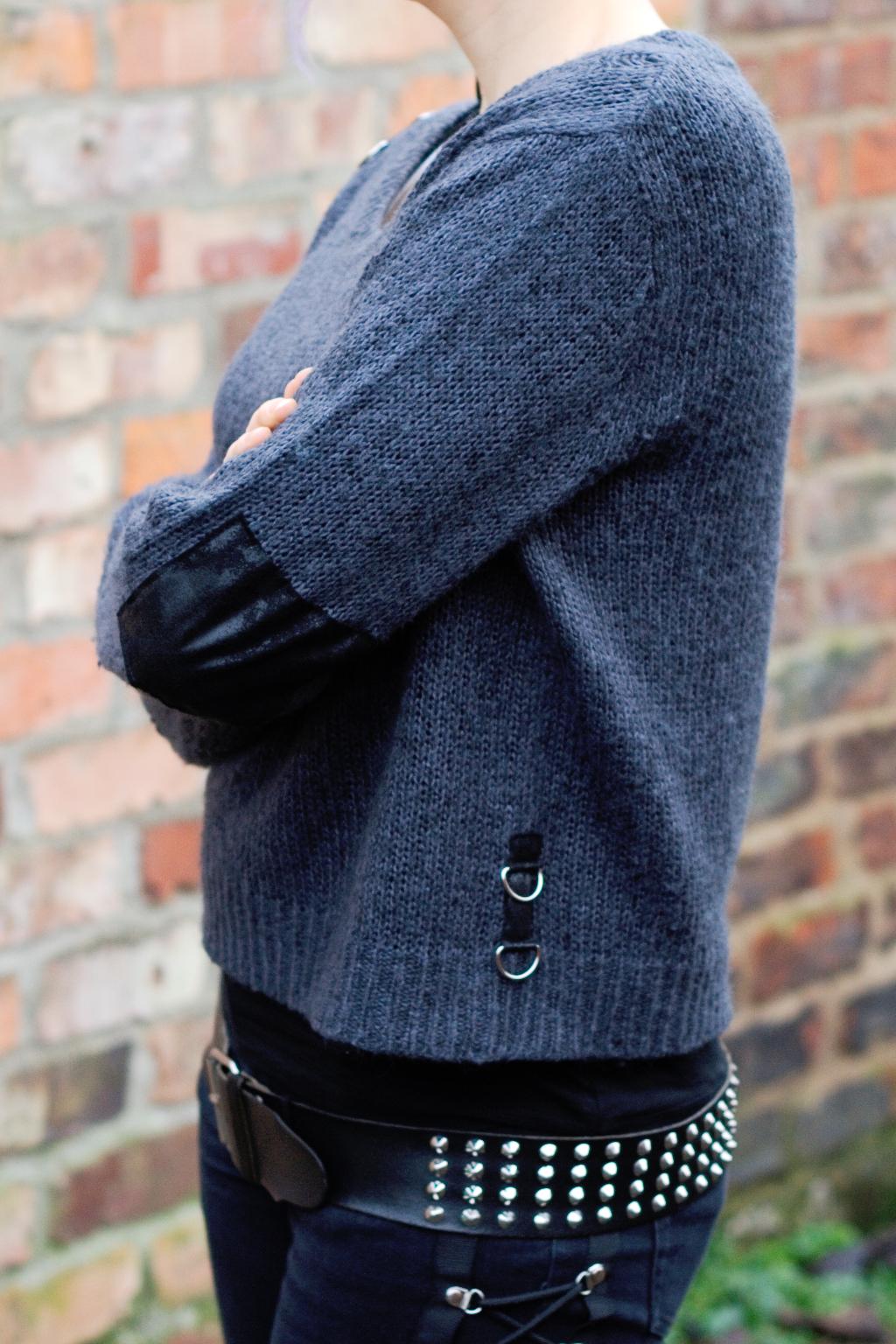 Strickpulli ruinieren mit Laufmaschen und Stil - Seite - Zebraspider DIY Anti-Fashion Blog