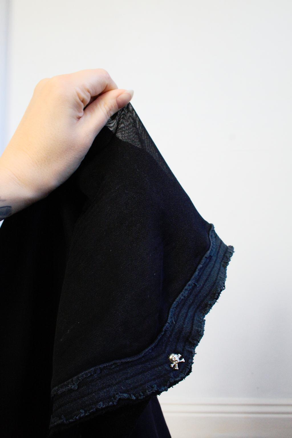 Ungleicher Klon Bio-Pulli - Gothic Sweatshirt zerfallen - Zebraspider DIY Anti-Fashion Blog