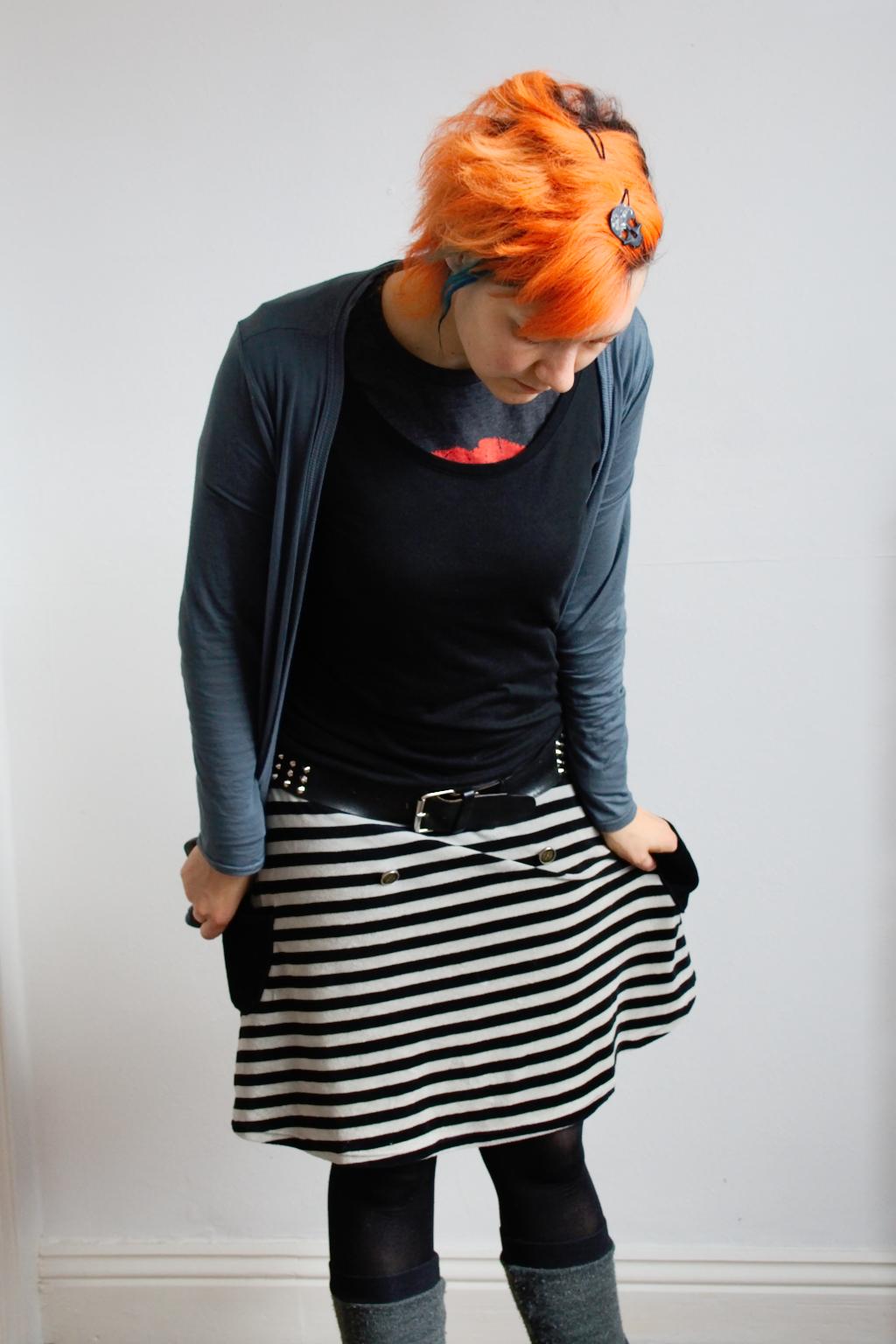 Arbeitsoutfit im englischen Sommer - orange Haare - Zebraspider DIY Anti-Fashion Blog