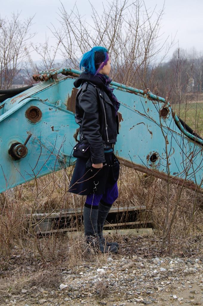 Wochenend-Outfit - Fotoshooting im alten Steinbruch - Zebraspider DIY Blog
