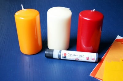 Halloween DIYs Part 1 - candles, paint and wax materials - Zebraspider Eco Anti-Fashion