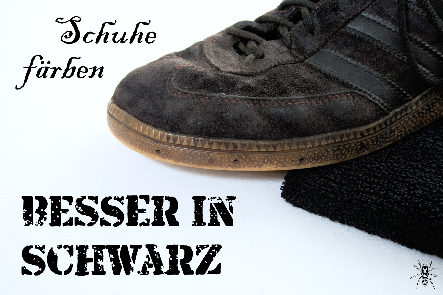 Besser in schwarz Schuhe färben Zebraspider DIY Anti