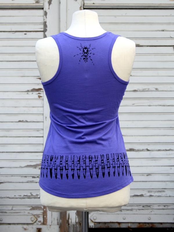 Warum Zebraspider immer grüner wird - bedrucktes Top aus Biobaumwolle - Zebraspider DIY Anti-Fashion Blog