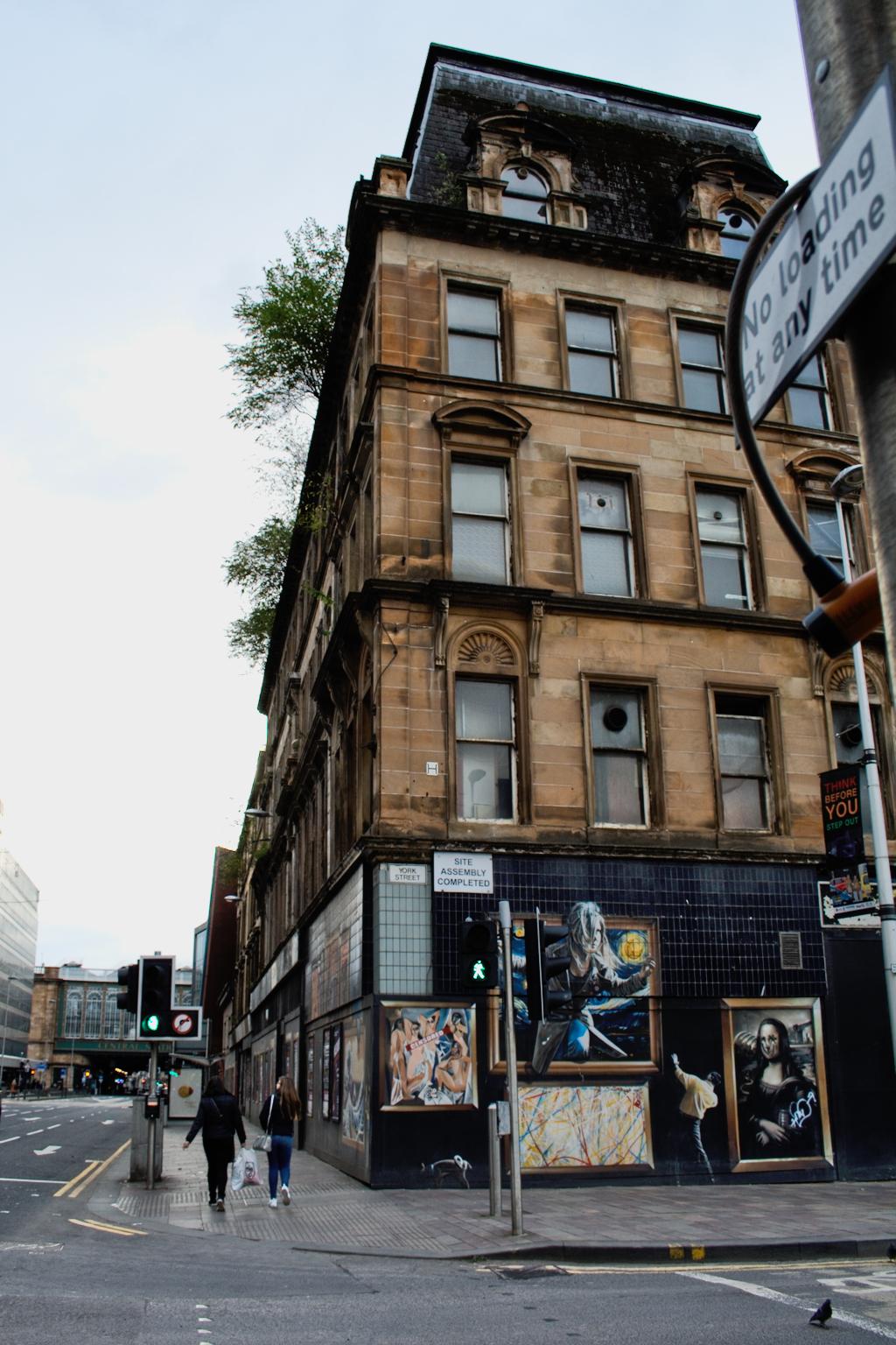 Ein paar Stunden in Glasgow - verlassenes Gebäude und Streetart - Zebraspider DIY Anti-Fashion Blog