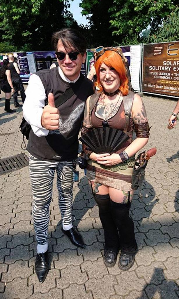 Auftrag für ein Steampunk-Endzeit-Outfit - Jassi Welle Erdball - Zebraspider DIY Blog