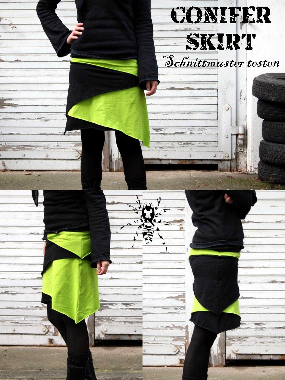 Conifer Skirt - Schnittmuster testen - Zebraspider DIY Anti-Fashion ...