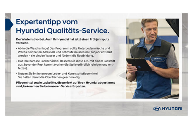 Expertentipp vom Hyundai Qualitäts-Service