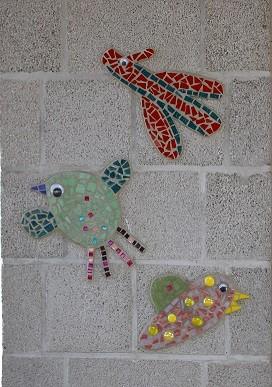 Mosaik Vögel