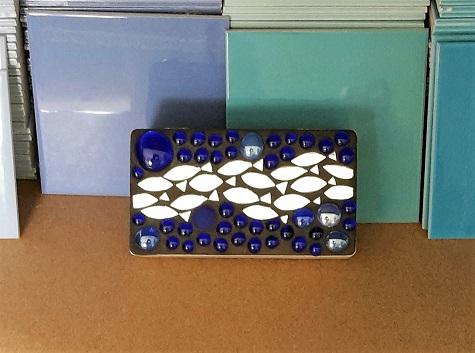 Mosaik Box mit Fischen