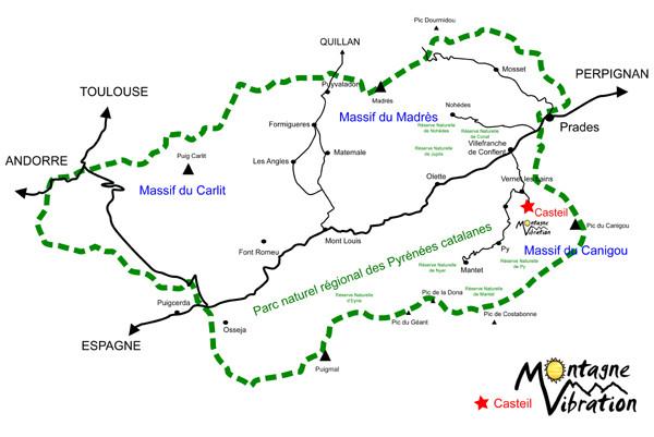 MONTAGNE VIBRATION dans le Massif du Canigou
