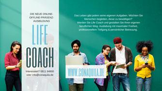 Life Coach Ausbildung, ConAquila GmbH, Martina M. Schuster