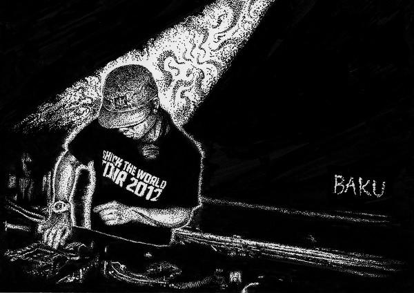 DJ BAKU(2012 点画)