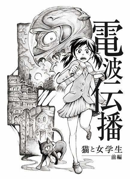 電波伝播〜猫と女学生〜(2014)※小説同人誌表紙イラスト