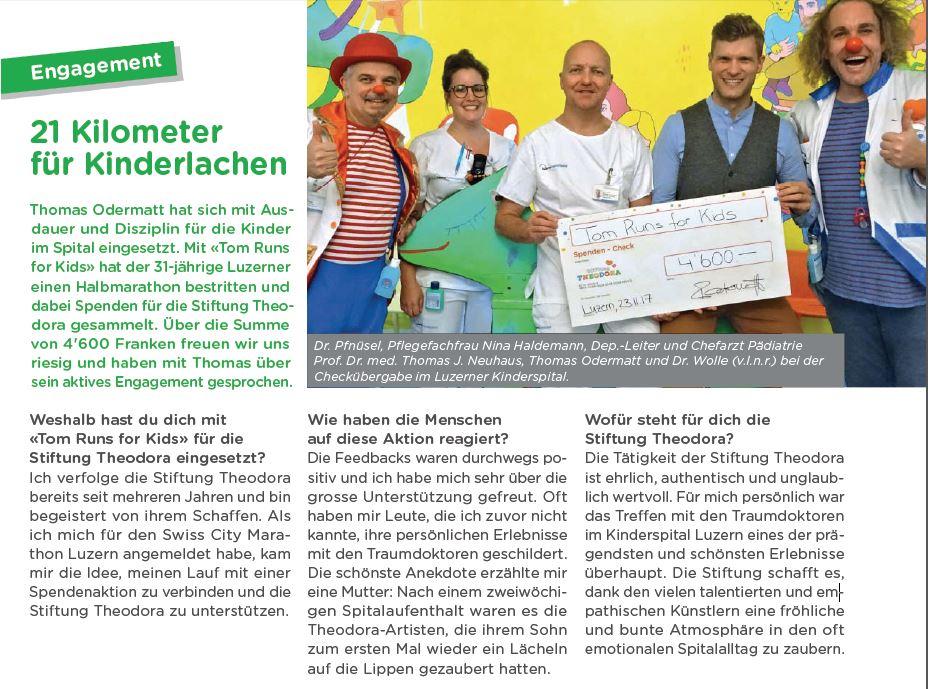 Stiftung Theodora Tom Runs for Kids Thomas Odermatt