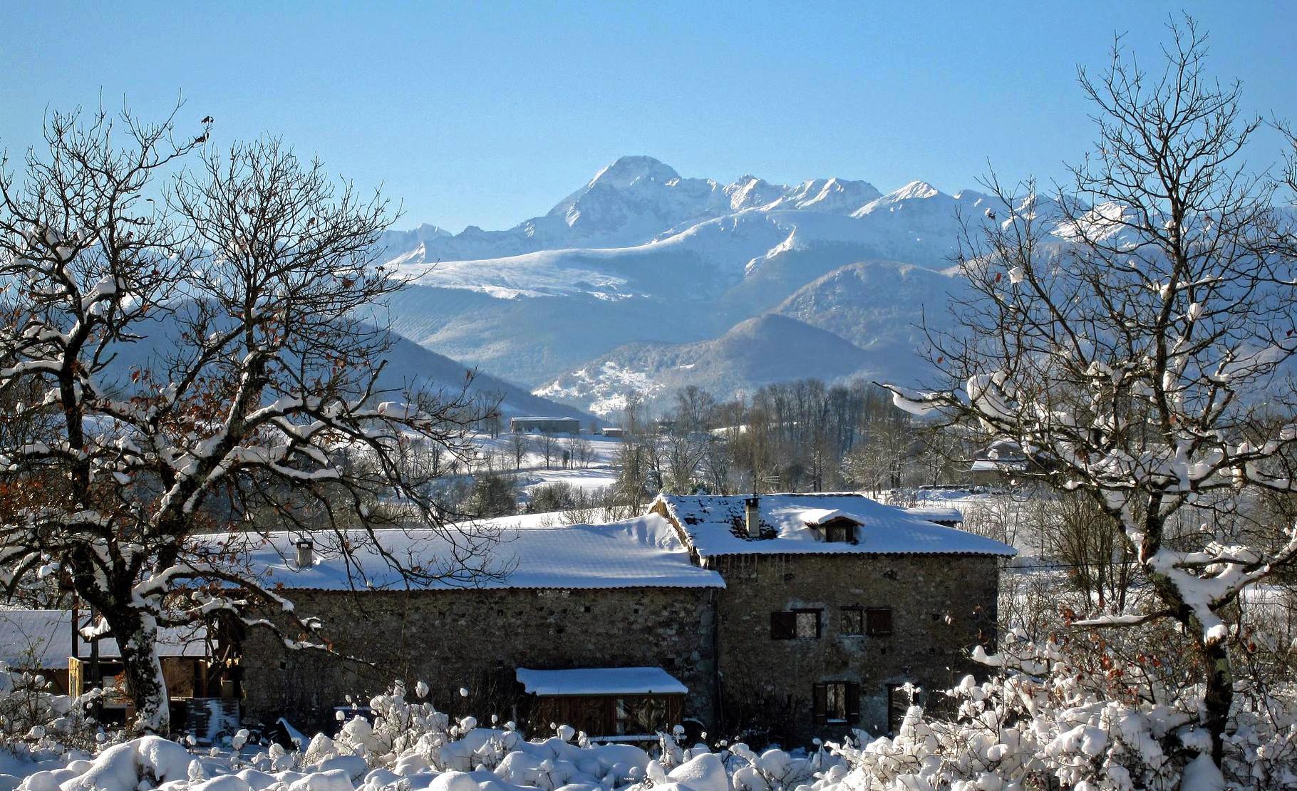 Enlène during winter