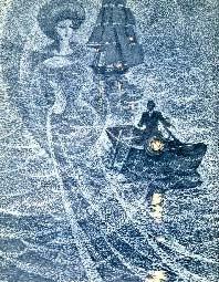 """Иллюстрация Саввы Бродского к """"Бегущей по волнам"""" – на мой взгляд лучшей и самой мудрой повести Грина, потому что она вообще-то о вполне реальных человеческих отношениях."""