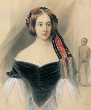 В. Гау. Портрет Н. Н. Пушкиной. 1841