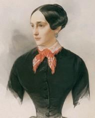 В. Гау. Н. Н. Пушкина-Ланская. Акварель. 1849.
