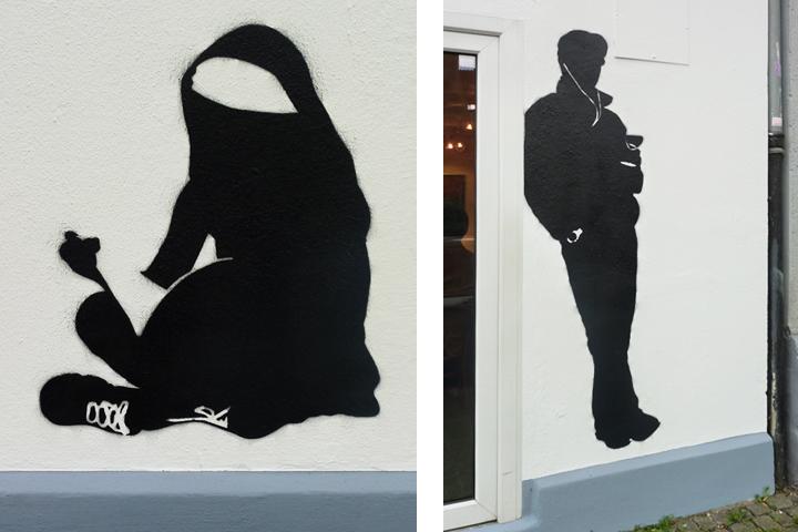 Silouette, Figur, Fassade