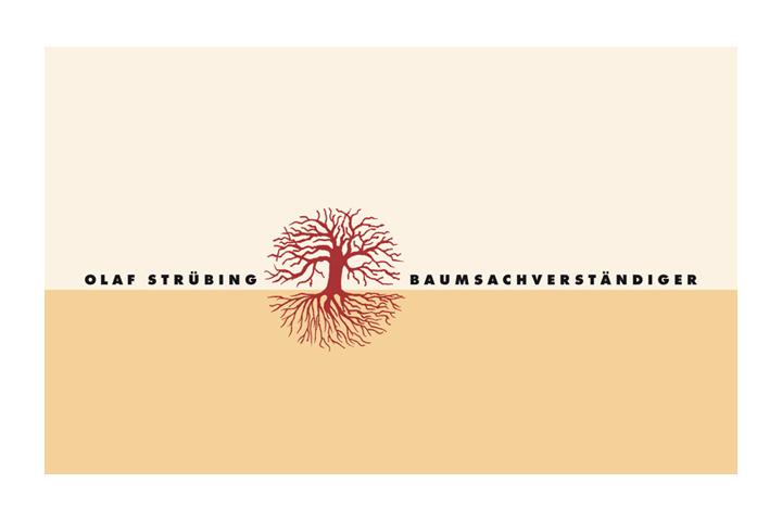 Baum, Wurzeln, naturalistisch, Strichzeichnung