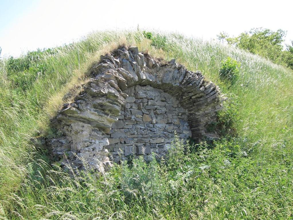 Південний мур замку з підвалом палацу