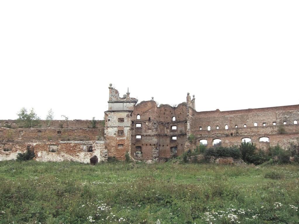 Південна вежа  та палац замку з дитинця замку