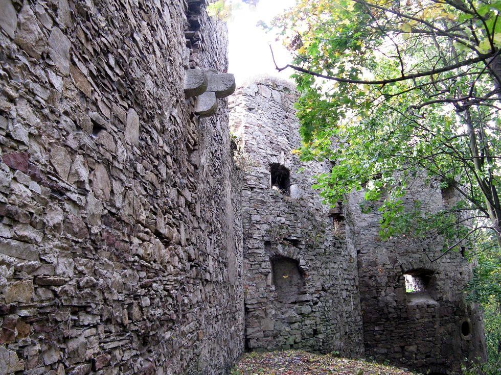 Північнв стіна замку з зовні та північно-західна вежа