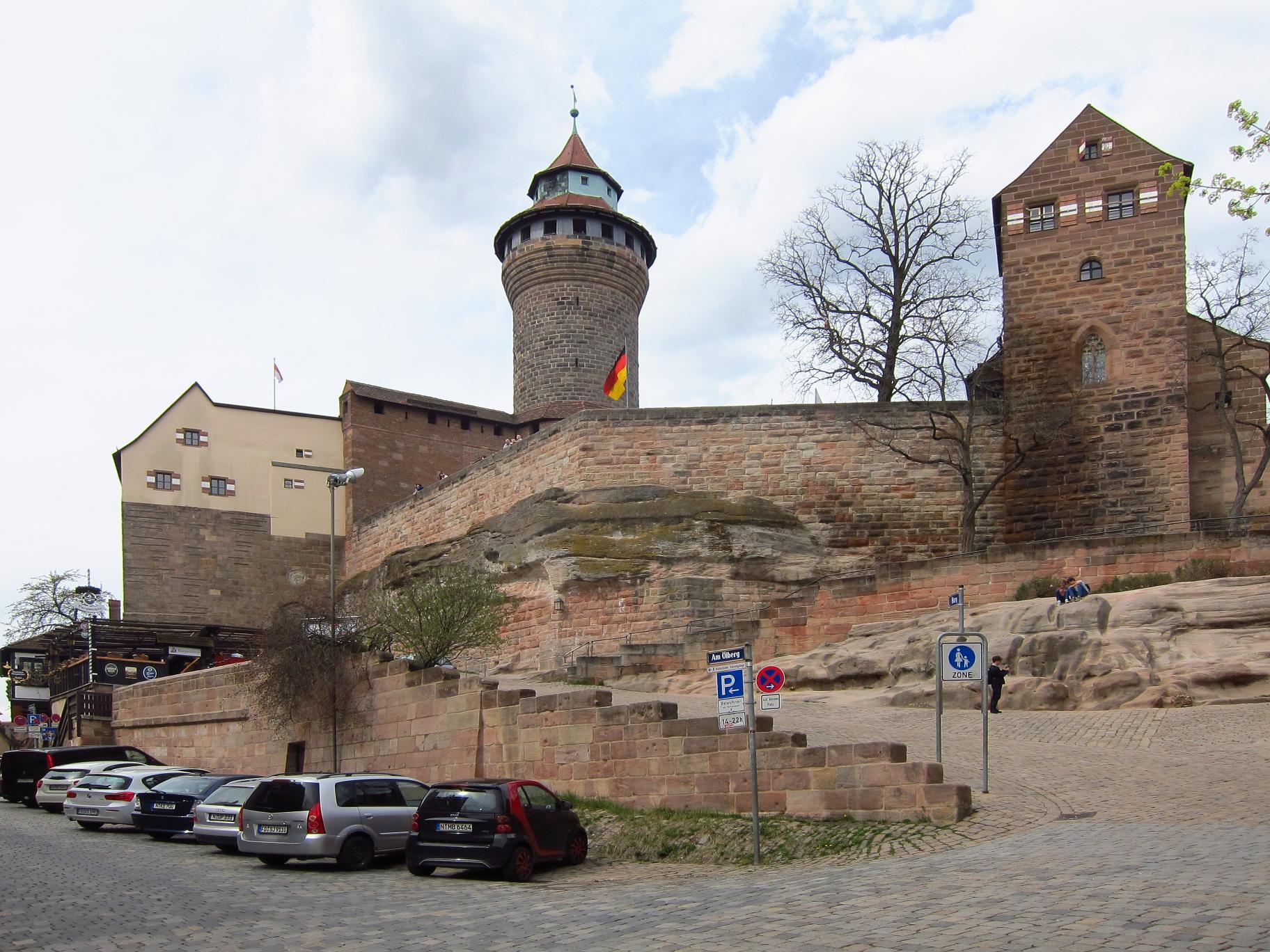 Нюрнберг. Замок. Загальний вигляд.