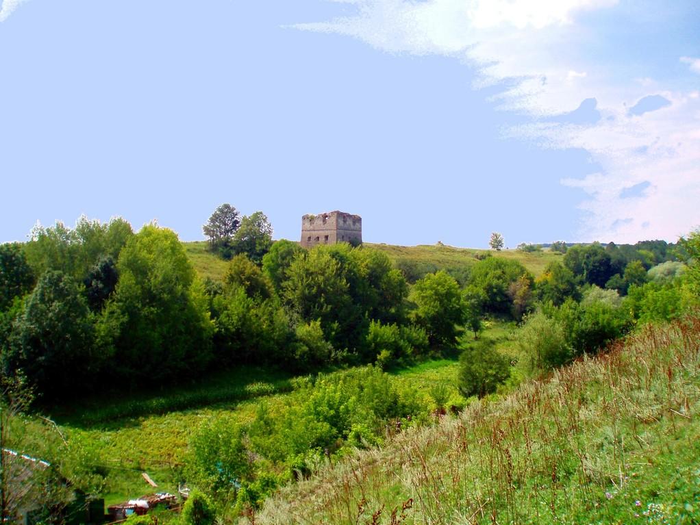 Замкова гора від села.