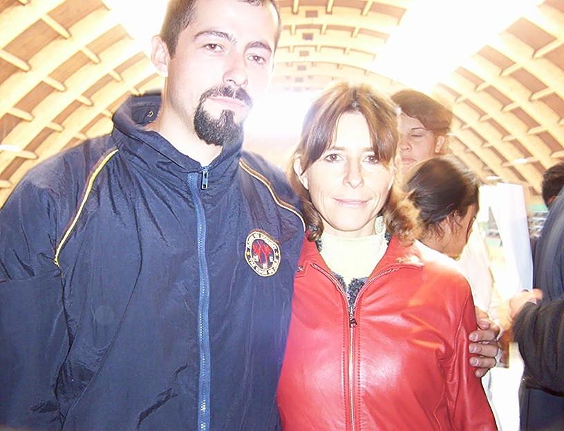 Junto a Cristina Girardi (ex Alcaldesa de C. Navia)