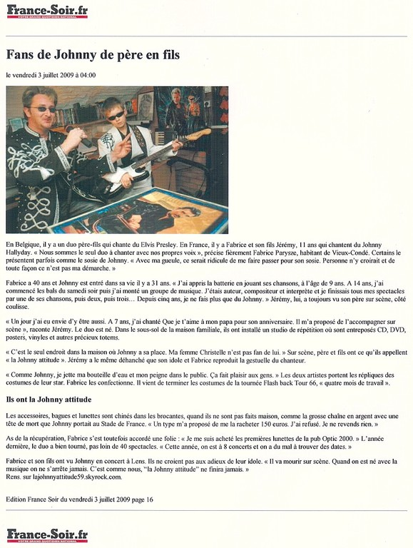 Article France Soir - Les Chti's
