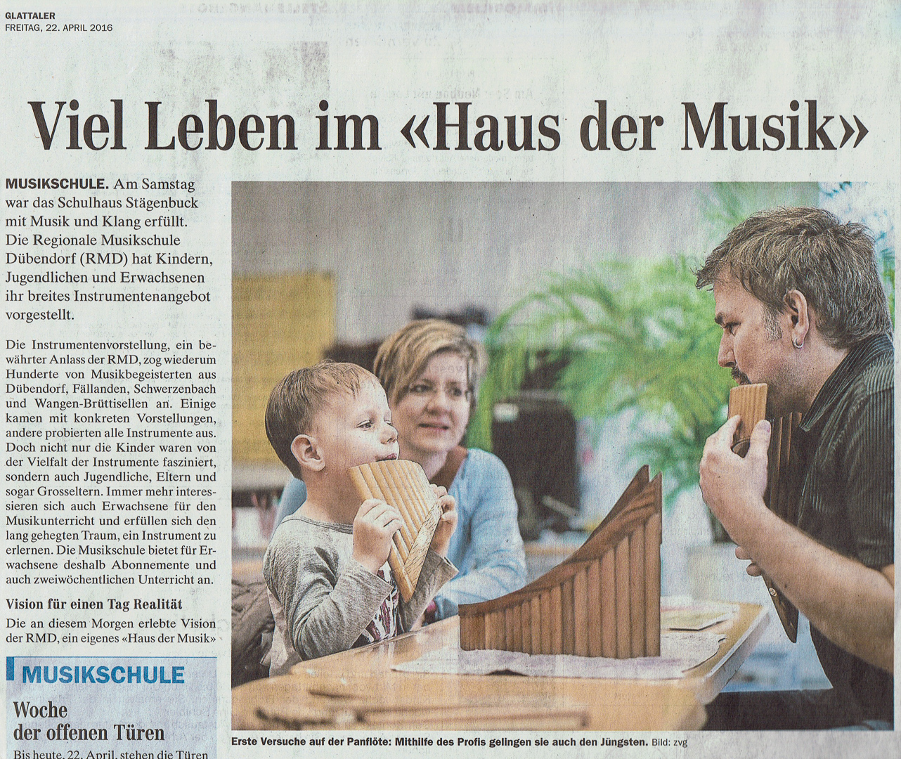 Foto für Zeitungsbericht
