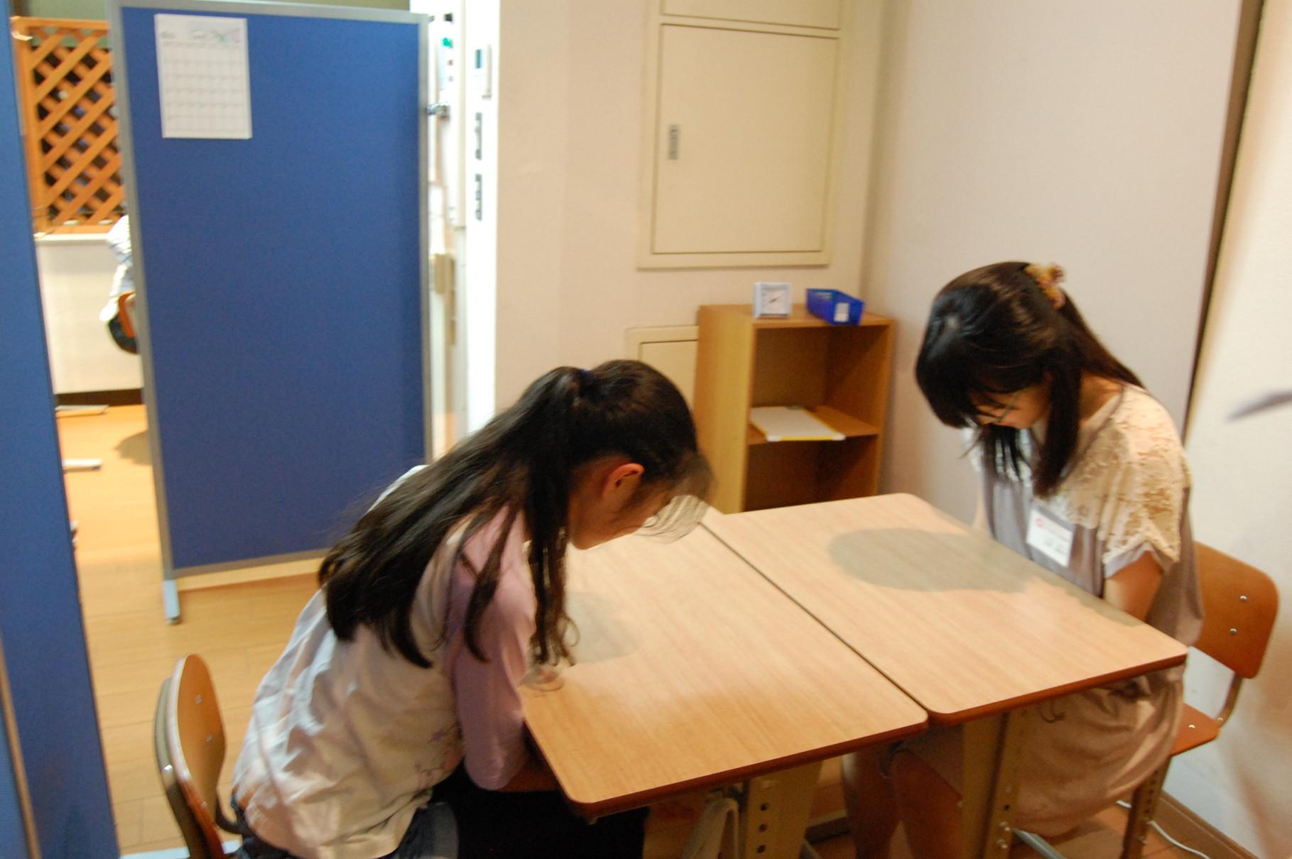 おわりのあいさつ 学習の反省をし、あいさつをして授業が終わります