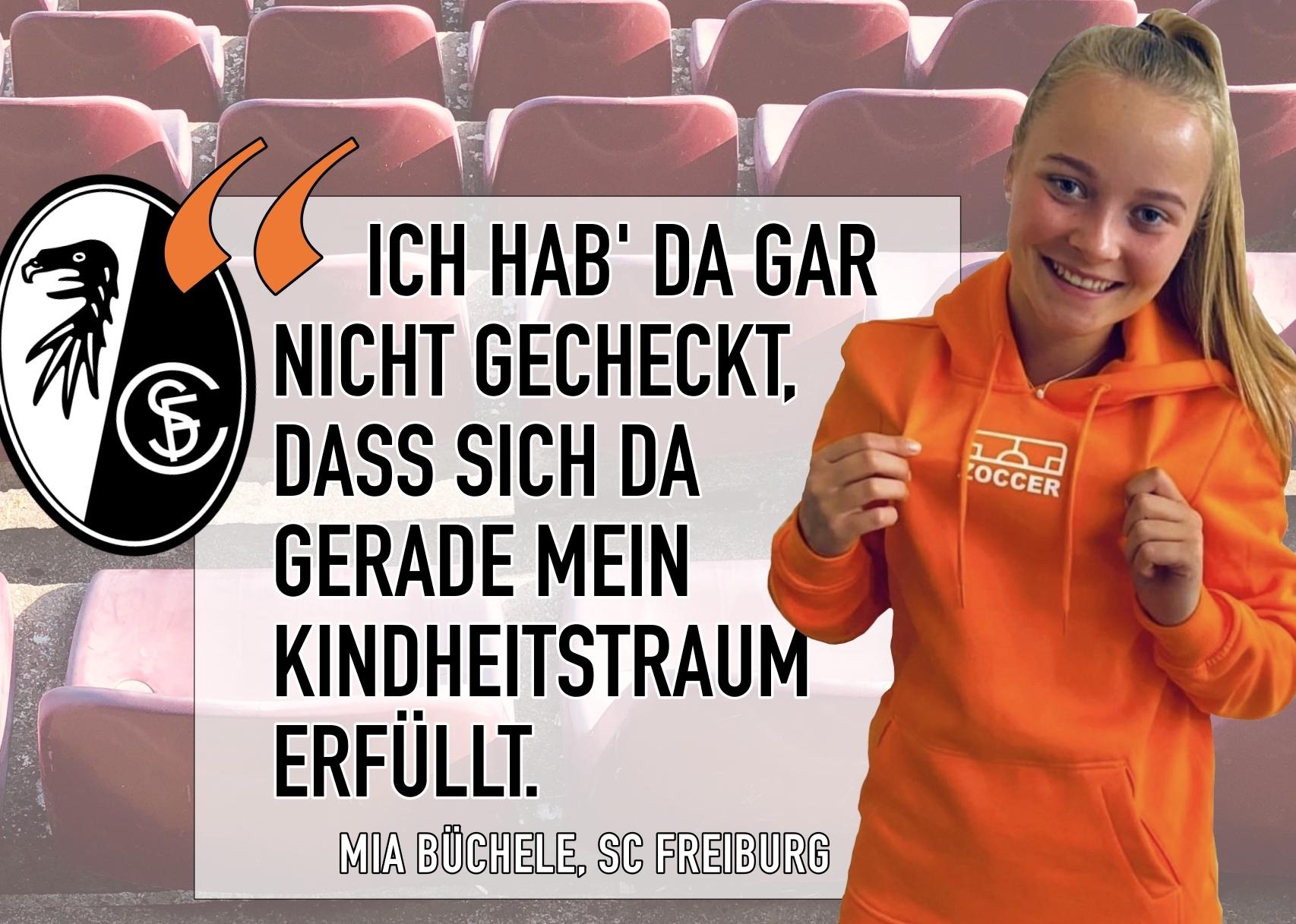 """""""Ich hab' da gar nicht gecheckt, dass sich da gerade mein Kindheitstraum erfüllt"""" – Freiburgs Young-Star Mia Büchele (17) im großen ZOCCER-Interview"""