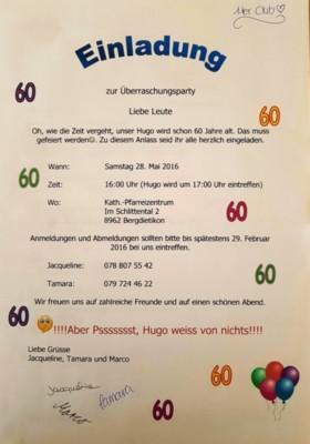 Geburtstag Hugo Mumenthaler