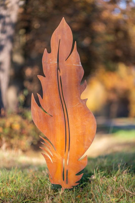 Gartendeko Blatt mit Stecker