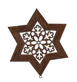 Weihnachtlicher Stern aus Edelrost