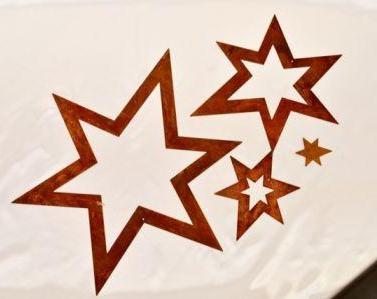 Edelrost-Sterne