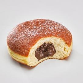 Beignet chocolat-noisette, framboise, pomme