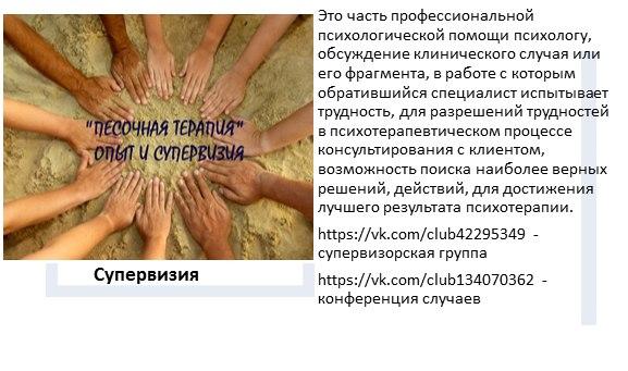 """Супервизорская группа """"Песочная терапия:опыт и супервизия"""""""