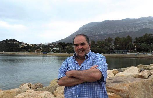 José Luis Polop en una de sus visitas al Marino Rotes